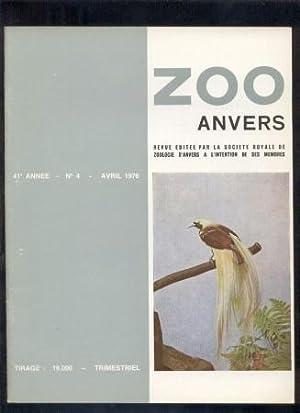 Zoo Anvers 41eme Annee. No 1-4. 1975.: Zoo Anvers