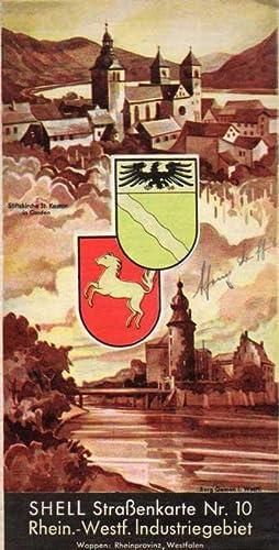 Shell-Straßenkarte Nr.10: Rhein.-West.Industriegebiet
