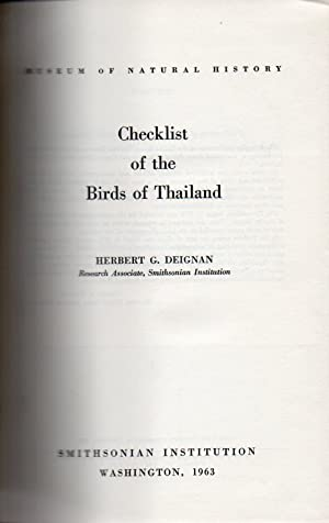 Checklist of the birds of Thailand(United states national mus.Bulletin