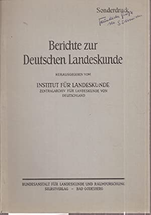 Die Stellung der Luftbildinterpretation in der Landesforschung: Schneider,Sigfrid