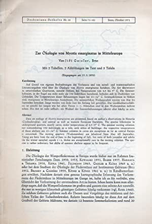 Zur Ökologie von Myotis emarginatus in Mitteleuropa: Gaisler,Jiri