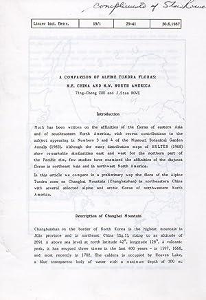 A Comparison of Alpine Tundra Floras: N.E.: Zhu,Ting-Cheng und J.Stan