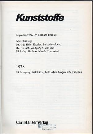 Kunststoffe 68.Jahrgang 1978: Kunststoffe