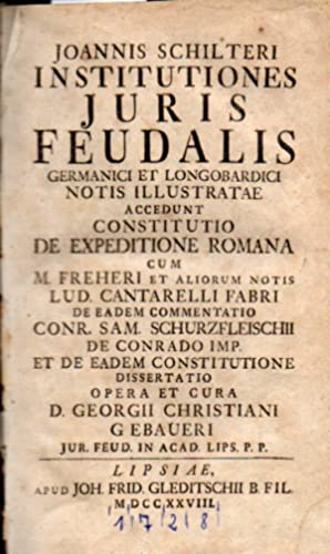 Institutiones juris feudalis germanici et longobardici