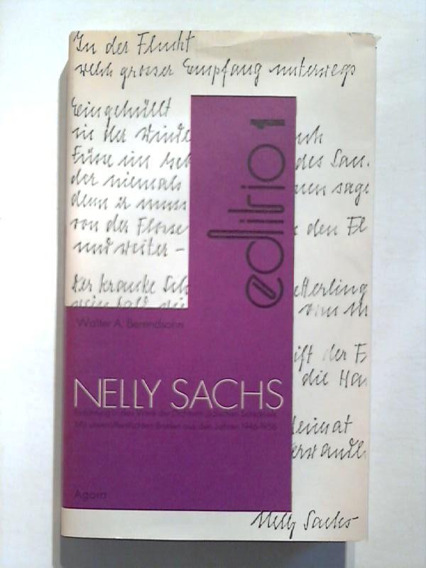 Nelly Sachs. Einführung in das Werk der Dichterin jüdischen Schicksals. - Schlösser, Manfred und Walter A. Berendsohn