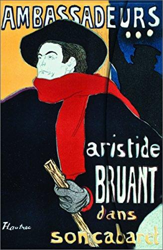Art Nouveau: Aristide Bruant Blank Magneto Book: Henri de, Toulouse-Lautrec: