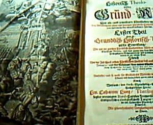 Historisch Theologischer Grund-Riß (Grundriß) Der alt- und jeweiligen Welt/ Bey ...