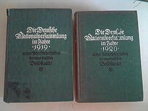 Die Deutsche Nationalversammlung im Jahre 1919/20, in ihrer Arbeit für den Aufbau des ...