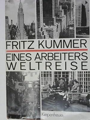 Eines Arbeiters Weltreise: Kummer, Fritz: