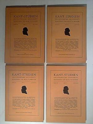 Kant Studien. Philosophische Zeitschrift, begründet von Hans Vaihinger. Band 49; Heft 1 - 4. ...