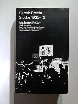 Stücke, 1935 - 1945.: Brecht, Bertolt: