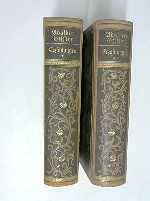 Adalbert Stifter Erzählungen, in zwei Bänden, mit 57 Lichtbildern. (Frakturschrift): ...