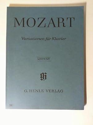 Mozart Variationen für Klavier. Urtext, Fingersatz von Walther Lampe, nach Eigenschriften, ...