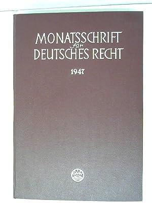 Monatsschrift für Deutsches Recht: Dr. Mittelstein, Kurt: