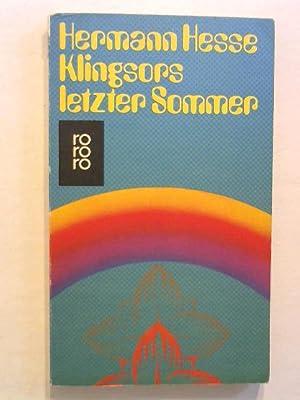Klingsors letzter Sommer.: Hesse, Hermann: