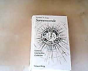 Sonnenwende Gedichte, Geschichten, Gedanken.: Jung, Gerhard: