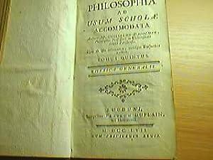 Philosophia ad usum scholae accomodata - Tomus Quintus: Dagoumer, Guillelmo:
