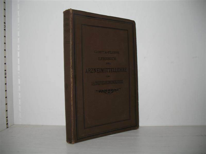 Dr. A. Cloetta`s Lehrbuch der