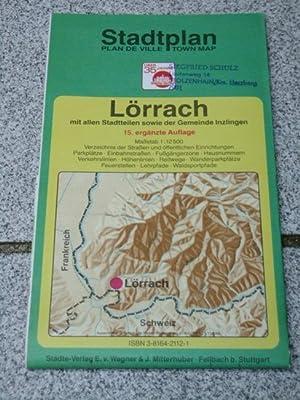 Stadtplan Lörrach] ; Stadtplan, plan de ville,