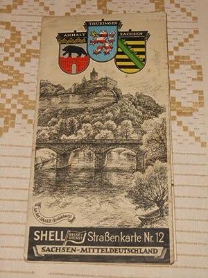 Shell Straßenkarte Nr. 12, Sachsen - Mitteldeutschland