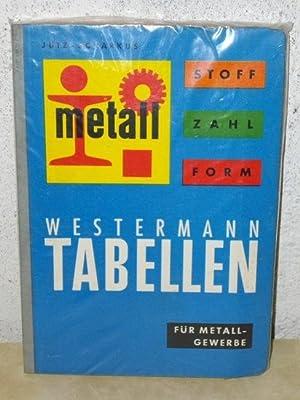 Stoff, Zahl, Form - Tabellen f. das: Jütz, Hermann und