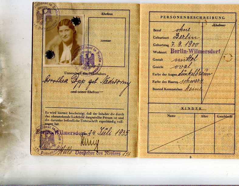 Reisepass: Deutsches Reich