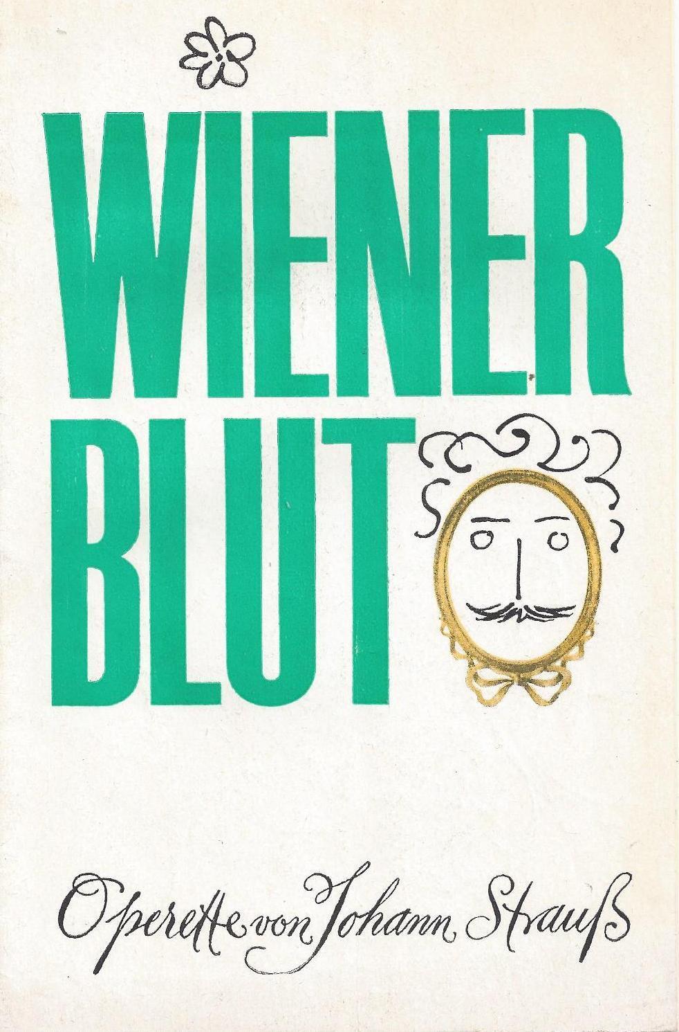 """Programm zu """" Wiener Blut """". Operette: Metropol - Theater"""
