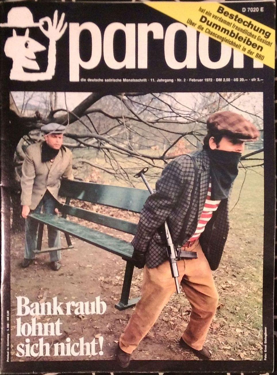 Pardon Die Deutsche Satirische Monatsschrift By Westdeutsche