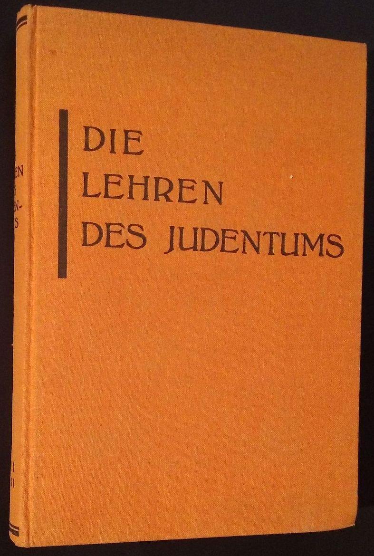 Die Lehren des Judentums nach den Quellen.: Bamberger, Fritz (