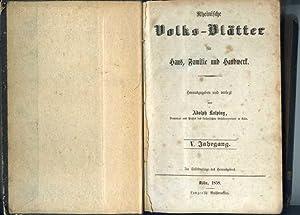 Rheinische Volks-Blätter für Haus, Familie und Handwerk. V. Jahrgang.: Kolping, Adolph ( ...