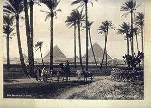 Route des Pyramides de Gizeh. 1 altes Orig.- Foto.: Ägypten )