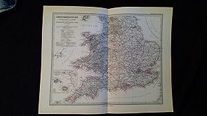Grossbritannien. England ( ohne die nördlichen Grafschaften ) u. Wales.: Petermann, A.