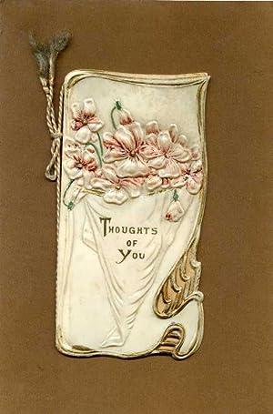 Thoughts of You.: Englische Jugendstil-Karte )