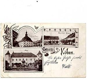 Köben. 1 alte Orig.- Ansichtspostkarte.: Schlesien
