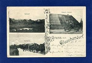 Gleschendorf. 1 alte Orig.- Ansichtspostkarte.: Schleswig - Holstein