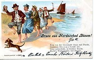 Büsum. 1 alte Orig.- Ansichtspostkarte.: Schleswig - Holstein