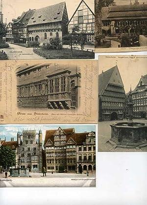 Hildesheim. Konvolut von 9 alten Orig.- Ansichtspostkarten.: Niedersachsen