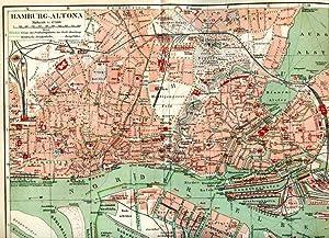 Altona. 1 alter Orig.- Stadtplan. von Hamburg ): Leipzig ...