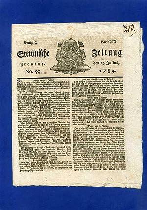 Königlich privilegirte Stettinische Zeitung.: Pommern )