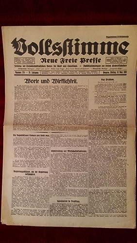 Volksstimme. Neue Freie Presse. Zeitung der Sozialdemokratischen Partei für Mark und Sauerland...