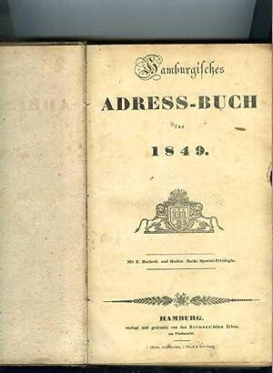 Hamburgisches Address-Buch für 1849.