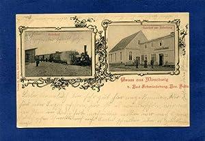 Moschwig. 1 alte Orig.- Ansichtspostkarte.: Sachsen - Anhalt