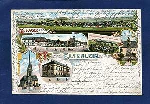 Elterlein. 1 alte Orig.- Ansichtspostkarte.: Sachsen