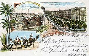 Alexandria. 1 alte Orig.- Ansichtspostkarte.: Ägypten