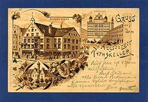 Augsburg. 1 alte Orig.- Ansichtspostkarte.: Bayern