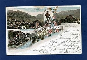Meran. 1 alte Orig.- Ansichtspostkarte.: Österreich