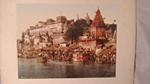 Benares. Rajah Potia Temple. 1 alte Orig.- Fotografie: Indien