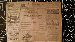 """Spielplan für """" Monica Vogelsang """" vom 2.Januar bis 8.Januar 1920: Spielplan des ..."""