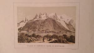 Chamonix. 1 alte Orig.- Lithographie