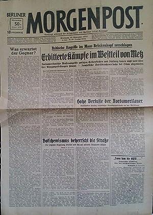 Berliner Morgenpost. Vereinigt während der Kriegsdauer mit